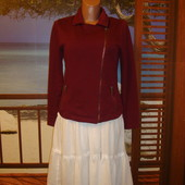 Пиджак\косуха цвета марсала р.10-12 Free