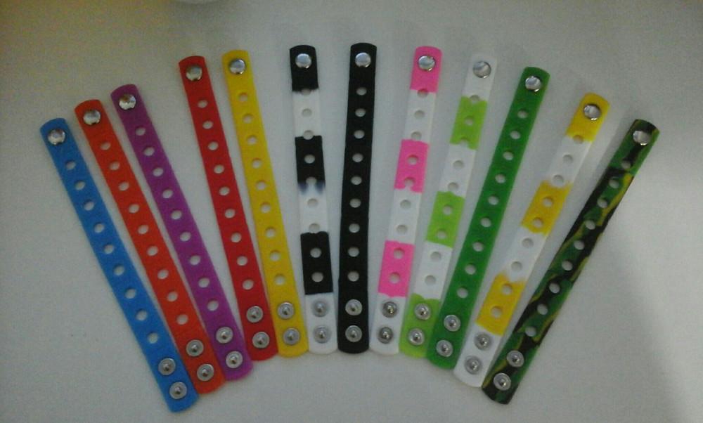 Силиконовые браслеты для джибитсов (jibbitz) фото №1