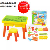 Детский столик песочница со стульчиком 8806A