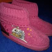 Теплые тапки-носки на девочку. Стелька 16 см.