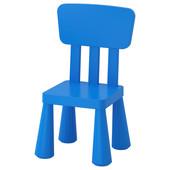 Детский стул, для дома/улицы, синий Mammut Маммут 603.653.46 Икеа Ikea