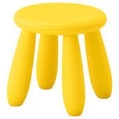 Табурет детский, для дома/улицы, желтый Mammut Маммут  203.823.24 Икеа Ikea