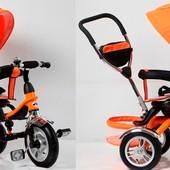 Велосипед 3-х колес TR16004 складной козырек,надувные колеса 12'' и 10''