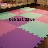 Коврик-пазл разные цвета 53*53 см. толщ.11 мм размер  Поштучно