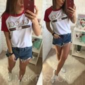 Красивая стильная футболка Гучи 040