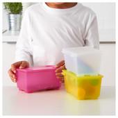 Коробка с крышкой, розовый/белый/желтый, 17x10 см Глис Glis 200.474.50 Икеа Ikea