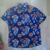 Фирменная легкая хлопковая рубашка M