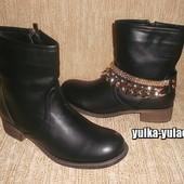 Стильные ботинки с цепями. Декор съемный