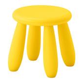 Табурет десткий желтый маммут ИКЕА табурет дитячий жовтий
