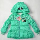 Детская демисезонная куртка для девочки 2-3 года мята