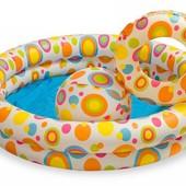 Детский надувной бассейн с игрушками мяч и круг Кружки 59460