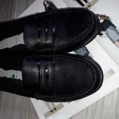 Hotter туфли мокасины р 9 ,41 Кожа Англия