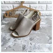 Кожаные сабо туфли на широком каблуке River Island рр 37
