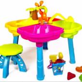 Столик-песочница, стол пластиковый для песка со стульчиком Новый!
