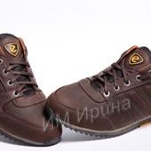 Кроссовки кожаные мужские Ecco Brown Leather