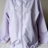Продано. Легкая лиловая курточка ветровка. Весенний цвет. 42/14/XL.