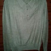 Легкий акриловый мужской джемпер-свитер-реглан л-хл