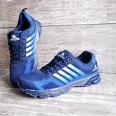 Мужские кроссовки копия Adidas сетка 41-46р. синие