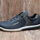 Стильные кроссовки-спортивные туфли в синем цвете (КТ-26nvy)