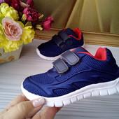 Кроссовки для мальчика синие размер 25-30 фирмы Солнце