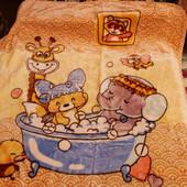 Детский плед - покрывало Зверята Happy animals
