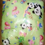 Детское одеяло подушка Зверята, цвет салатовый