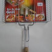 Решетка для гриля- барбекю сетка с бортом
