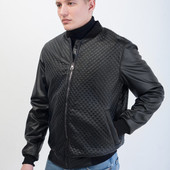 Мужская кожаная куртка бомбер 48-54 размер
