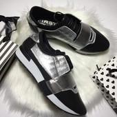 Классные женские кожаные кроссовки, 2 цвета