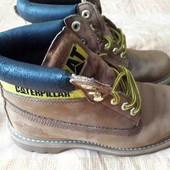 Кожаные фирменные ботинки Caterpillar р.41-26см.