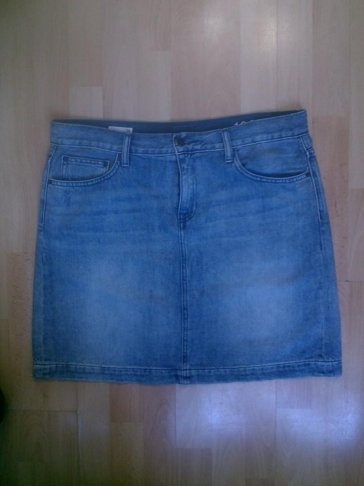 Фирменная джинсовая юбка l фото №1