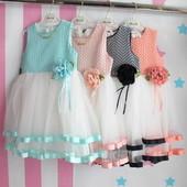Детское нарядное платье с фатином для девочки размер 5-8 лет