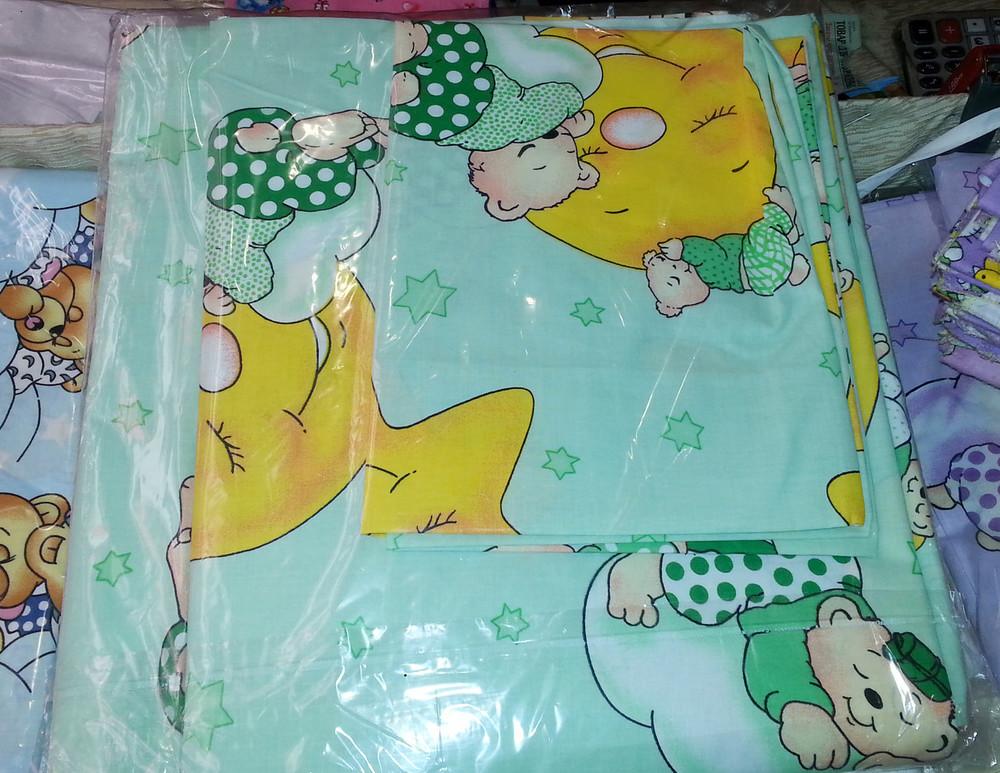Набор детского сменного постельного белья в кроватку для новорожденного фото №7
