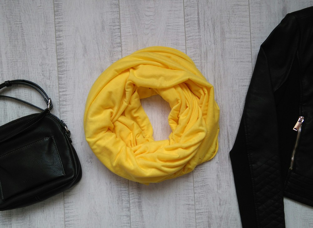 Желтый трикотажный снуд c&a фото №1