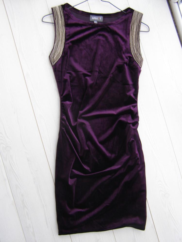 Шикарное бархатное платье от apricot s-размер фото №2
