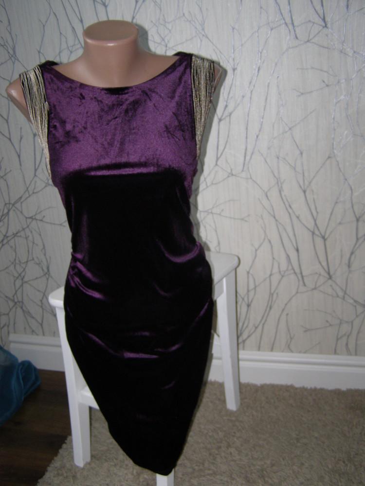 Шикарное бархатное платье от apricot s-размер фото №8