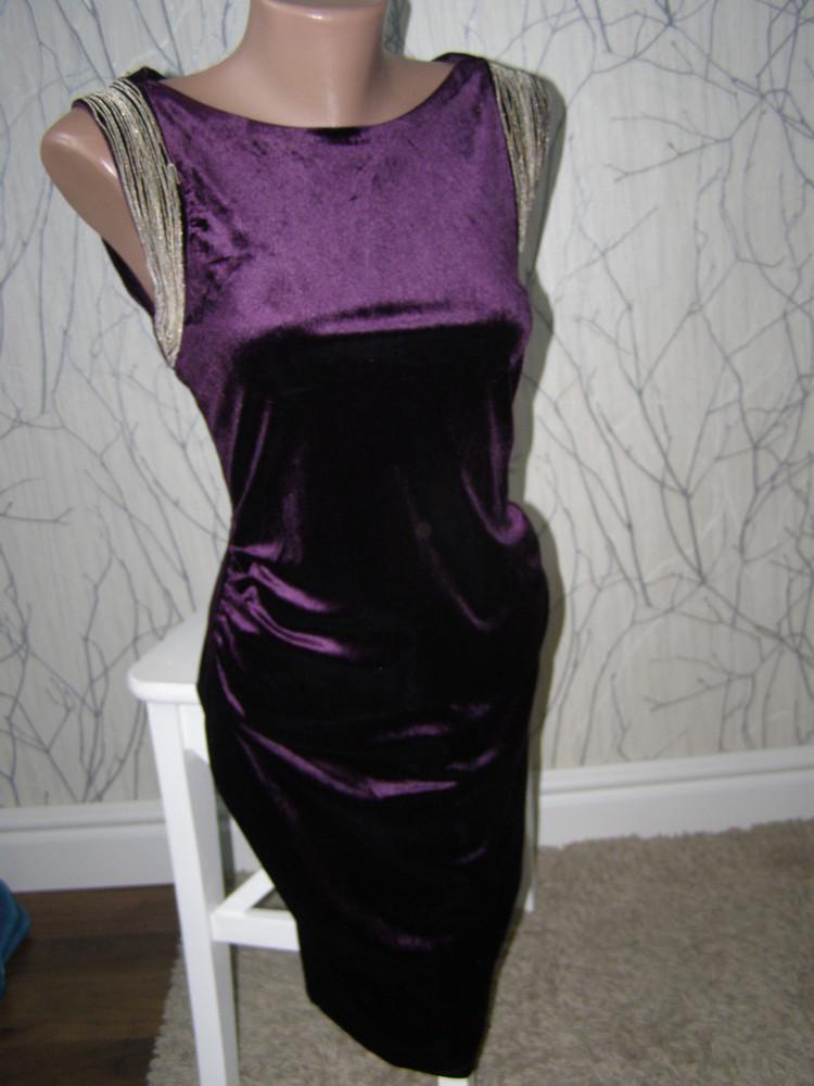 Шикарное бархатное платье от apricot s-размер фото №1