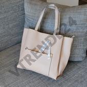 #16121A Gernas Beige Женская плотная сумка, внутри три отделения!