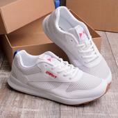 Стильные мужские белые кроссовки