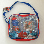 Набор в сумке: ланч бокс (ланчбокс) и бутылка