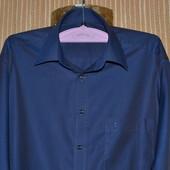 L/50/40. Eterna. Рубашка мужская, офисная, синяя. Classic fit. Фирменная, оригинал.