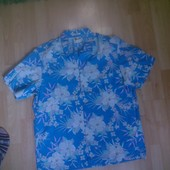 Фирменная рубашка хлопок+лен L