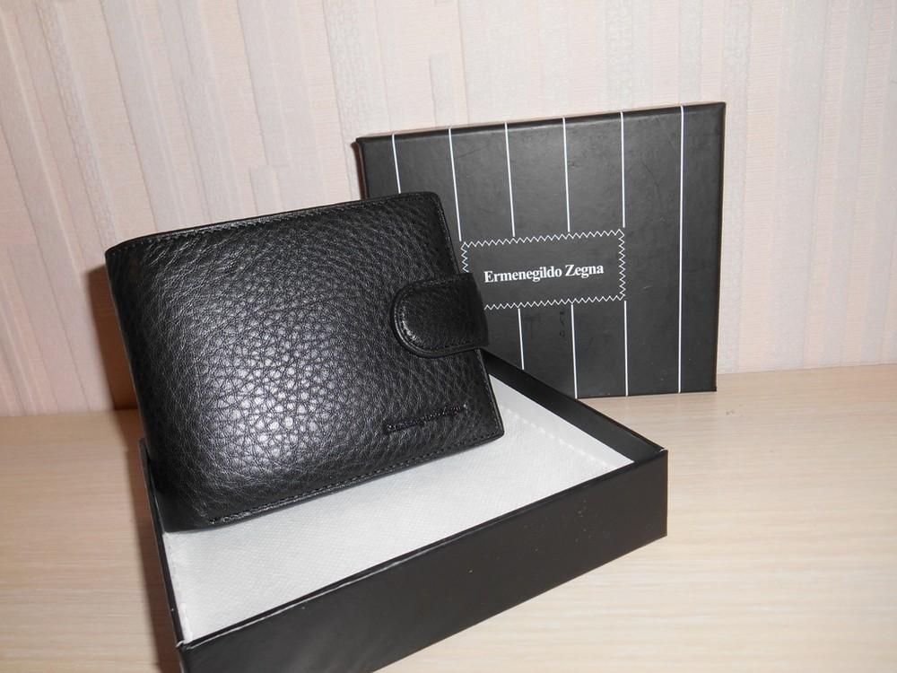 Мужской кошелек, портмоне, бумажник ermenegildo zegna, кожа, италия фото №1