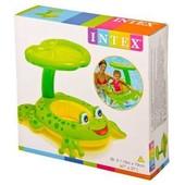 Детский надувной круг для плавания с сиденьем и навесом Intex 56584