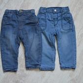 Деми джинсы на х/б подкладке 6-9 мес