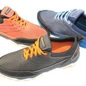 Летние мужские кроссовки, натуральная кожа, 3 цвета