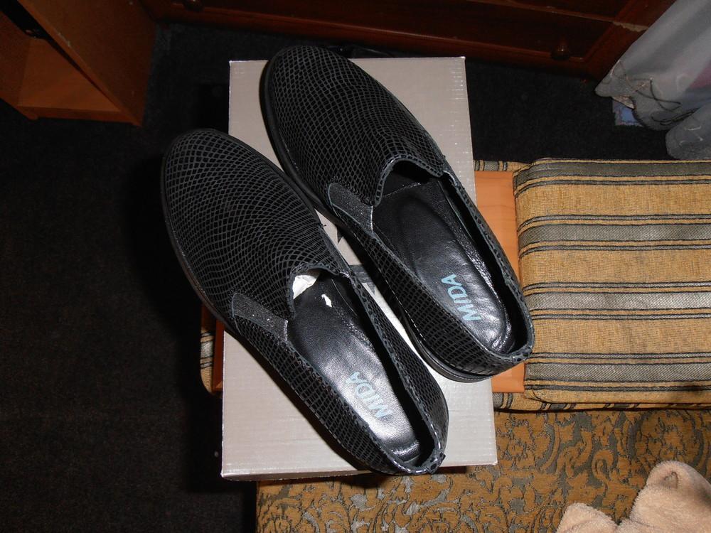 Стильные кожанные классные туфли mida фото №1