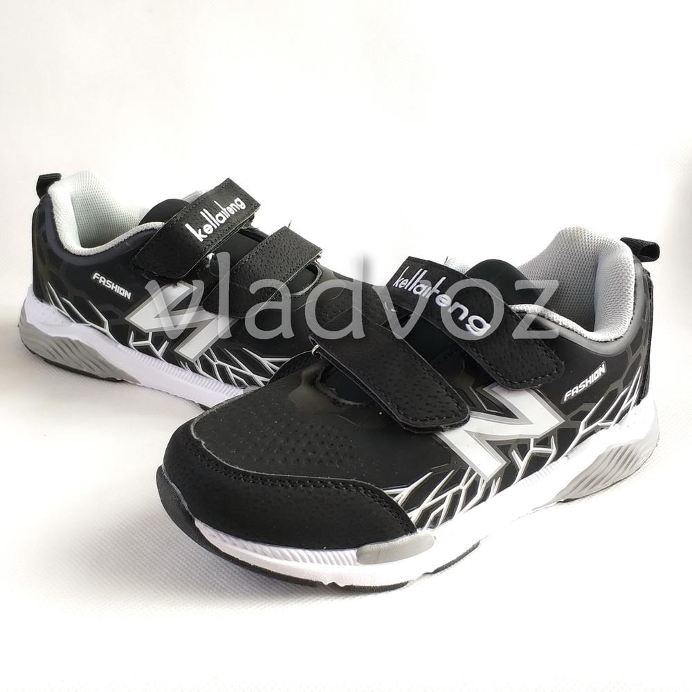 Новинка подростковые кроссовки для мальчика 32-37р. klf серые фото №1