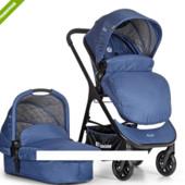 Универсальная коляска-трансформер 2в1 el camino me 1014-4 EVE синяя