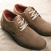 Туфли Clarks с перфорацией, р. 40-45, код gavk-10122